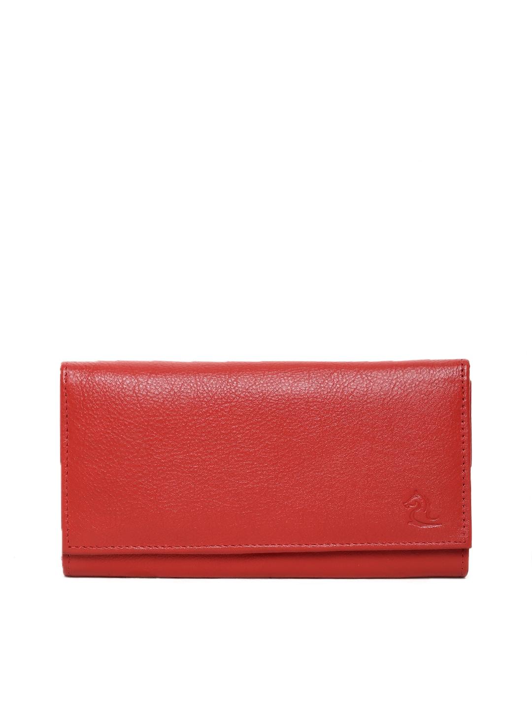 Kara Women Red Leather Wallet