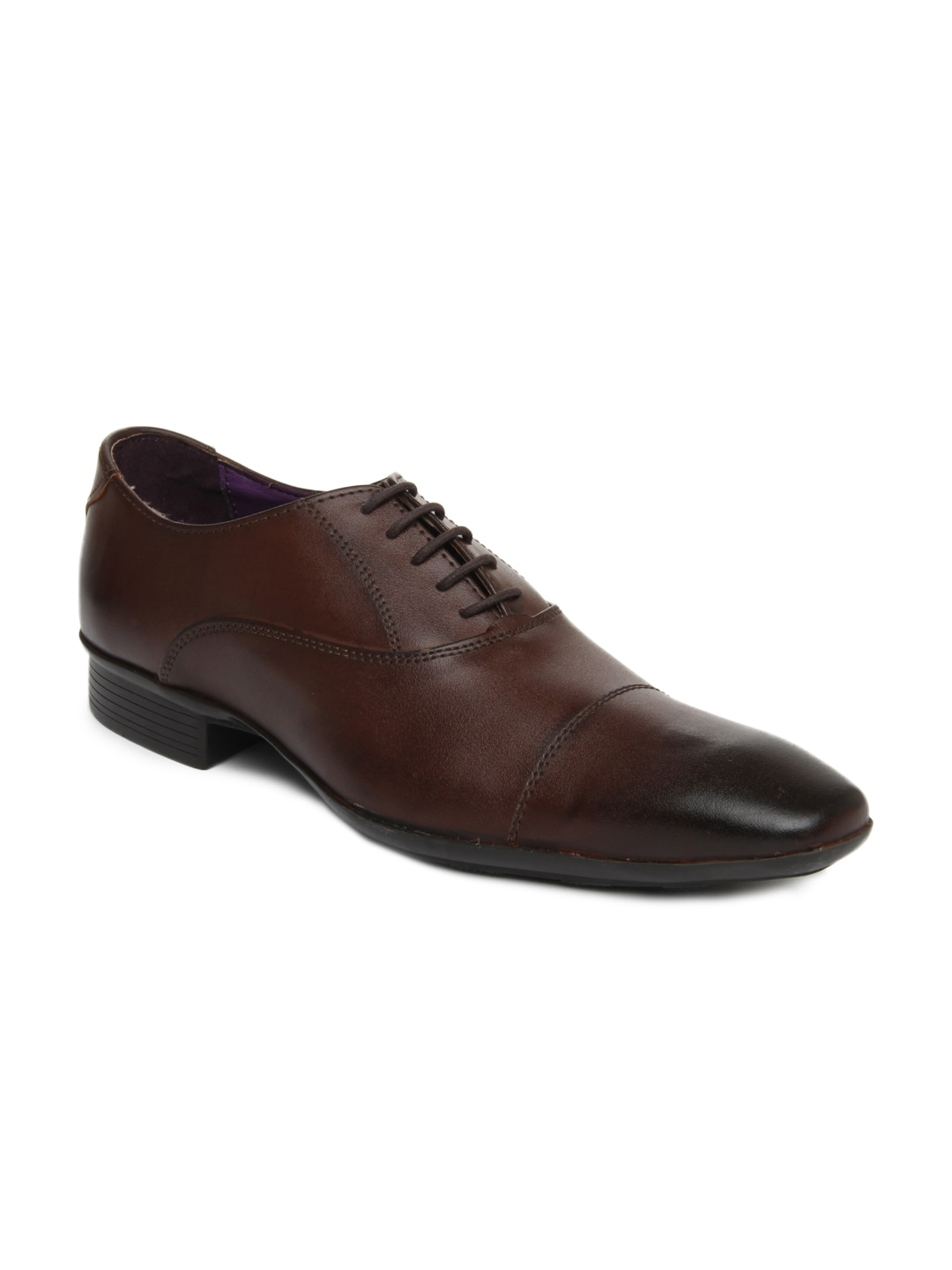 Knotty Derby Men Brown Arthur Toe Cap Oxford Leather Formal Shoes