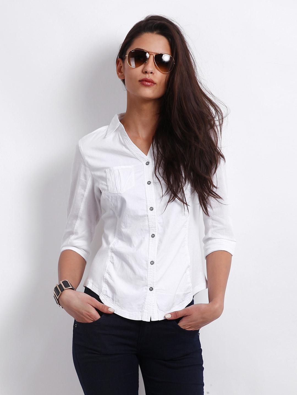 Elegant  Clothing White Shirt Black Pants Style Design For WomenChina