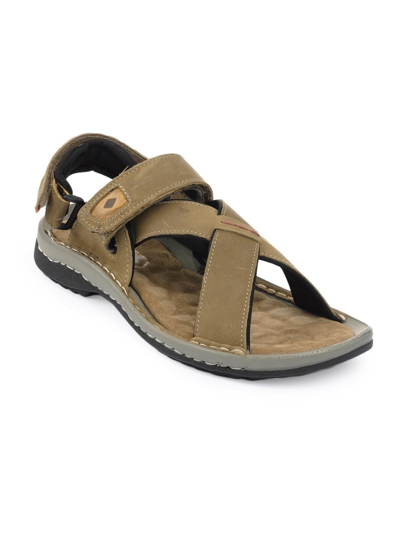 Awesome Lee Cooper Menu0026#39;s Brown Sandals | Sandals U0026 Slippers For Footwear-store - HomeShop18.com