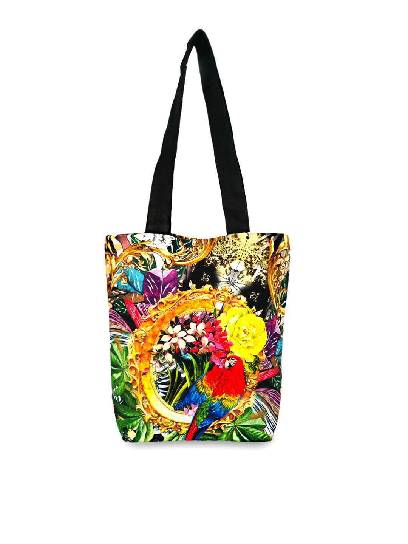 Lemon Lemon Trunk Women Multicoloured Printed Tote Bag (Multicolor)