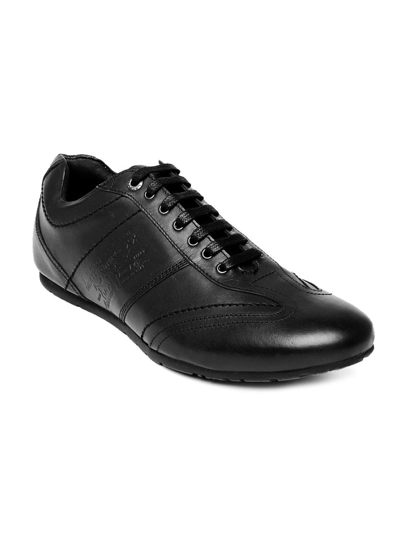 Levis Men Black Leather Casual Shoes