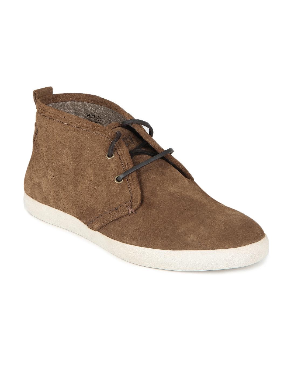 Levis Men Brown Suede Leather Shoes