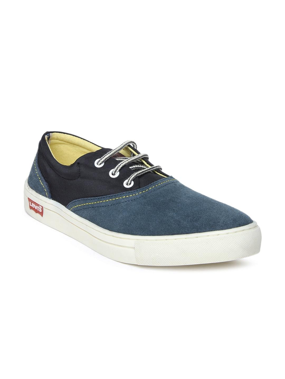 Levis Men Dark Blue & Black Casual Shoes