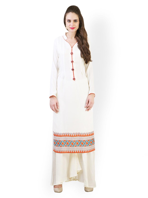 de141b53f Buy Libas Women Cream-Coloured Salwar Kurta (yellow) 1403787 for ...