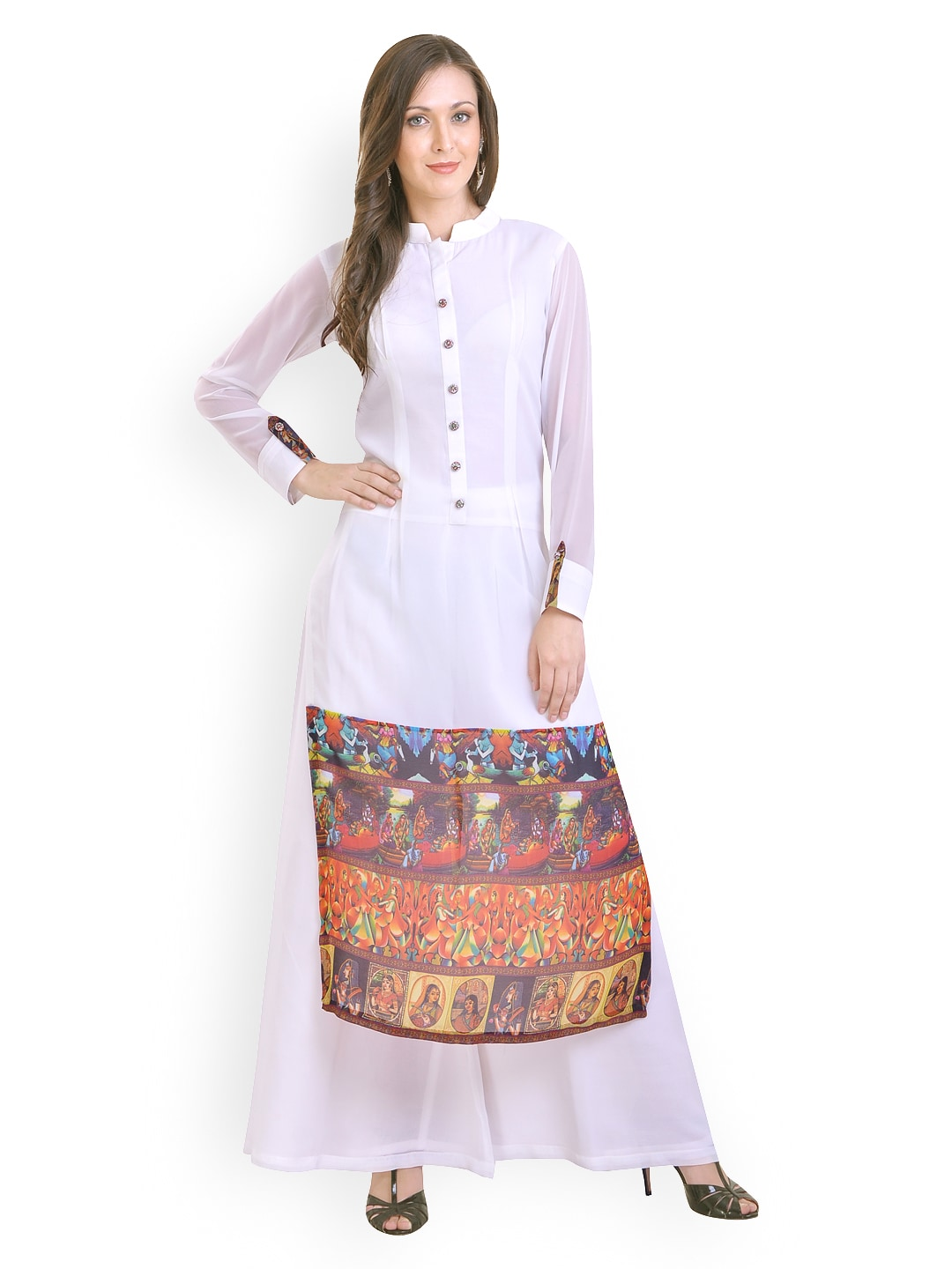 e9a15c07be Buy Libas White Kurta & Palazzo Set 1381655 for women online in ...