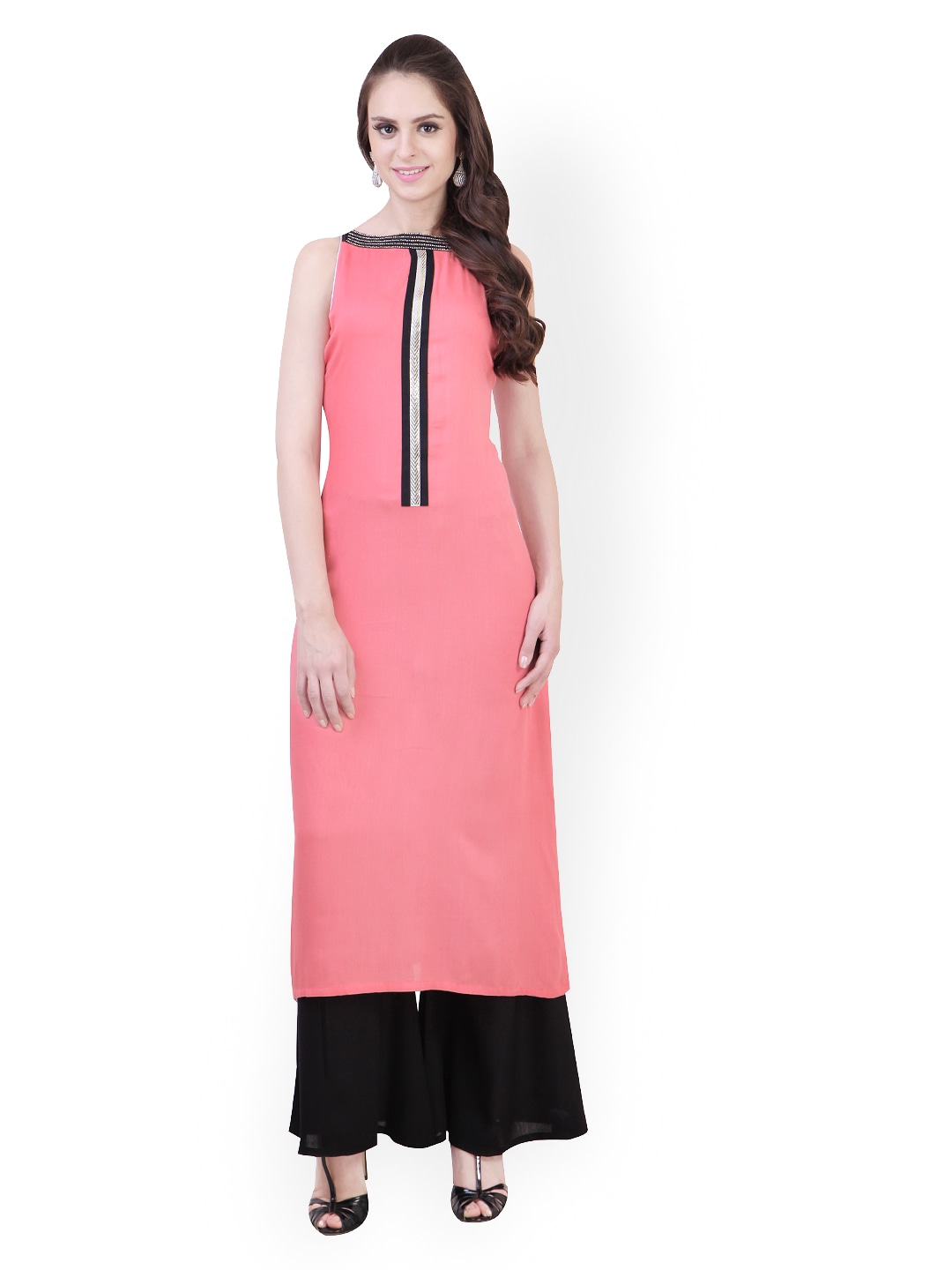 2e8c0ee84f Buy Libas Women Pink & Black Salwar Kurta (multicolor) 8272784 for ...
