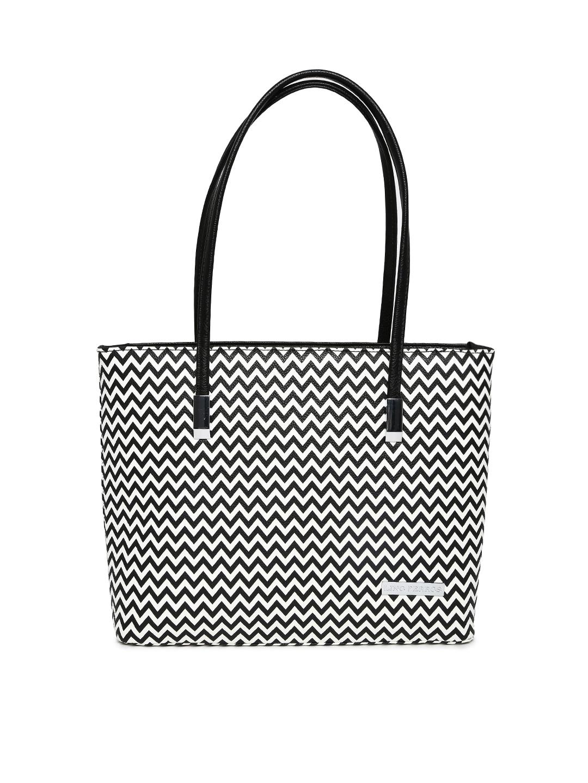 Lino Perros Black & White Printed Handbag