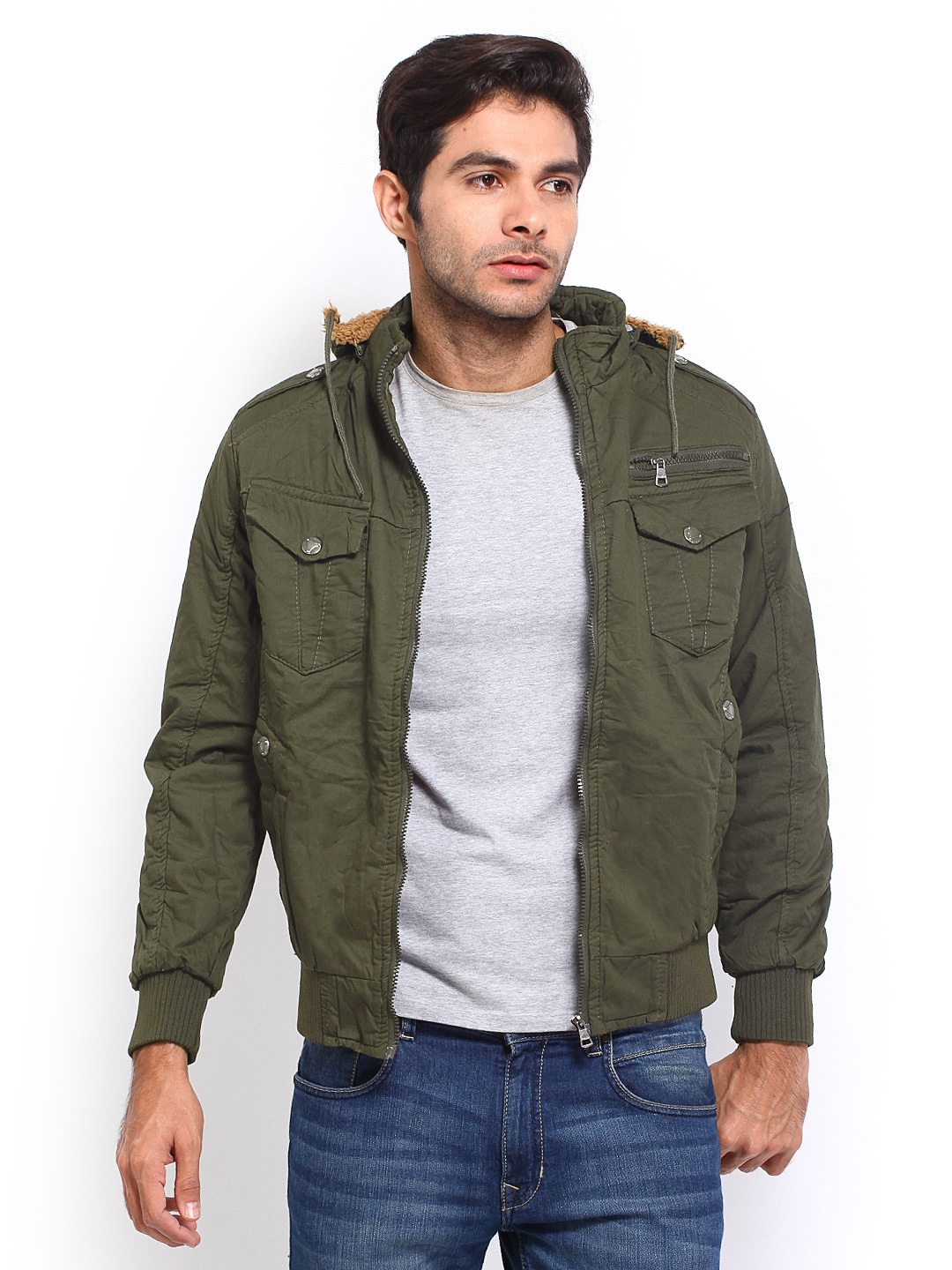 Olive Green Blazer Men