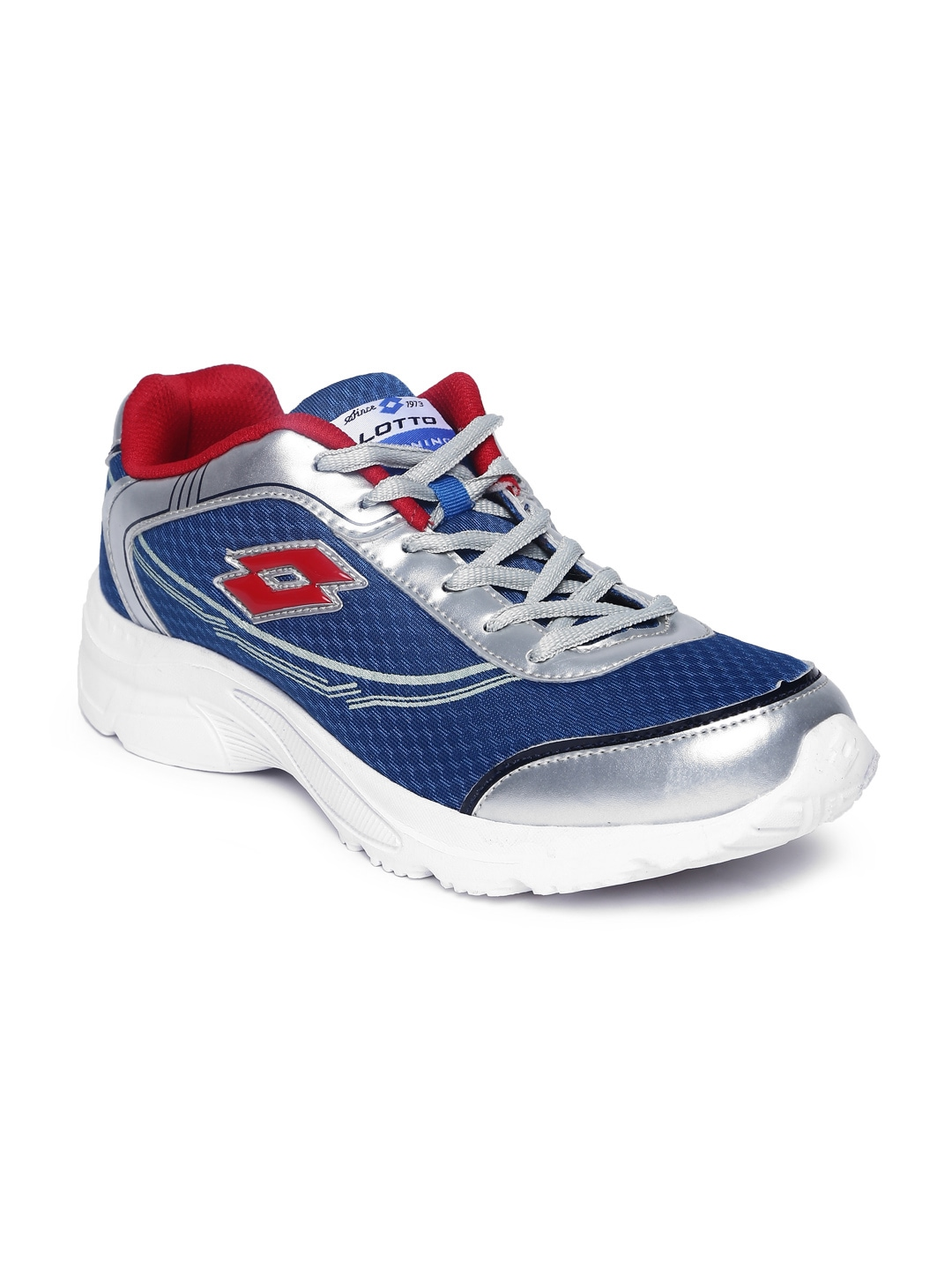 Lotto Men Silver-Toned & Blue Tremor Running Shoes