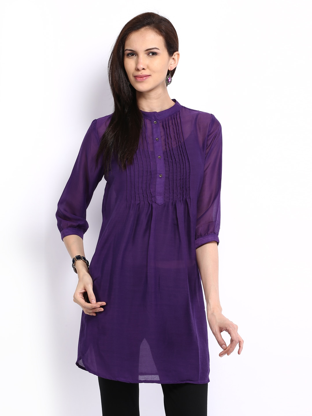 Melange by Lifestyle Women Purple Kurta