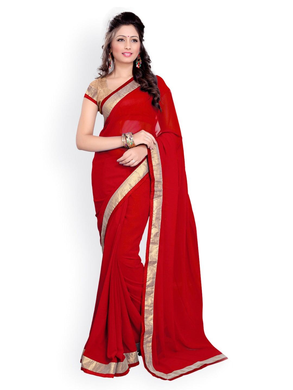 4c6ee31fc47b7 Red Saree Saree Blouse - Buy Red Saree Saree Blouse online in India