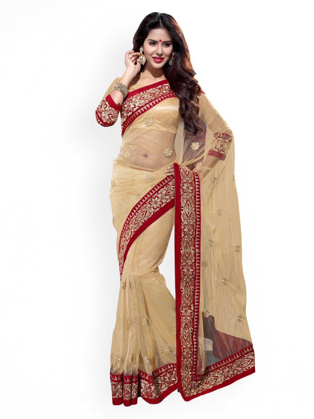 1d652296a1 Net Sarees - Buy Stylish Net Saree in India Online - Myntra