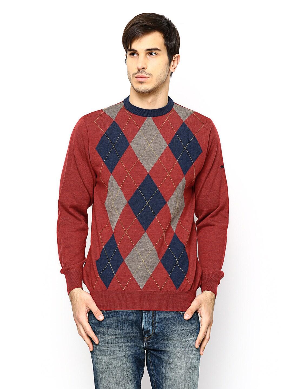 Monte Carlo Men Red Woollen Sweater