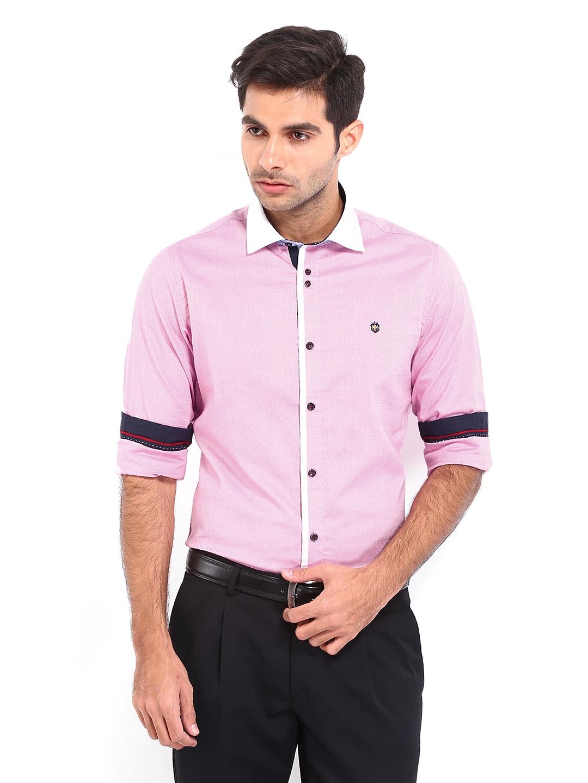 Buy Mufti Men Pink Casual Shirt (multicolor) 1433336 for men ...