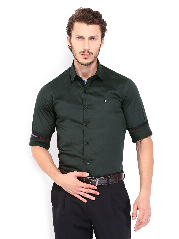 dark green mens shirt custom shirt