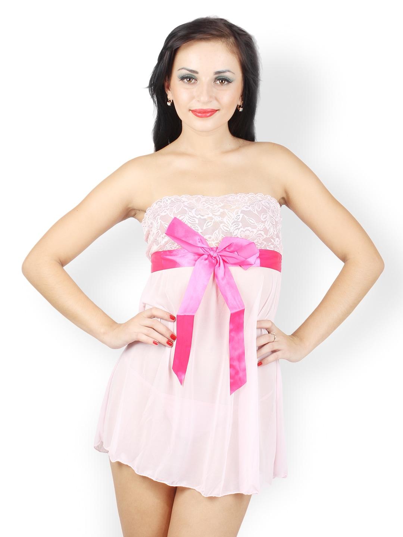 N-Gal Light Pink Babydoll Nightdress NG2388