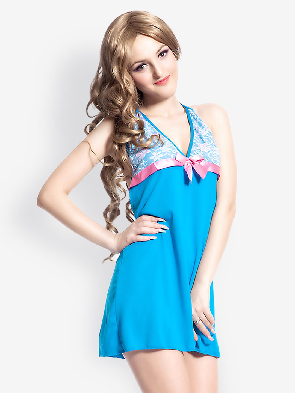 N-Gal Women Blue Nightdress