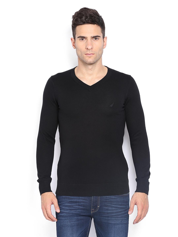 Nautica Men Black Sweater