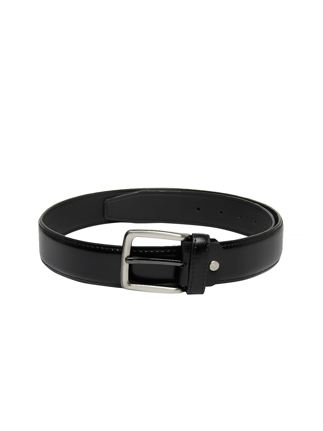 New Hide Men Black Leather Belt