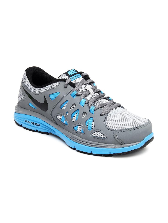 buy nike boys grey blue dual fusion run 2 sports shoes