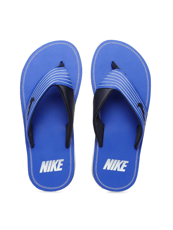 best authentic 075e6 d22e8 Buy Nike Men Blue Chroma Thong III Flip-Flops 9554860 for ...