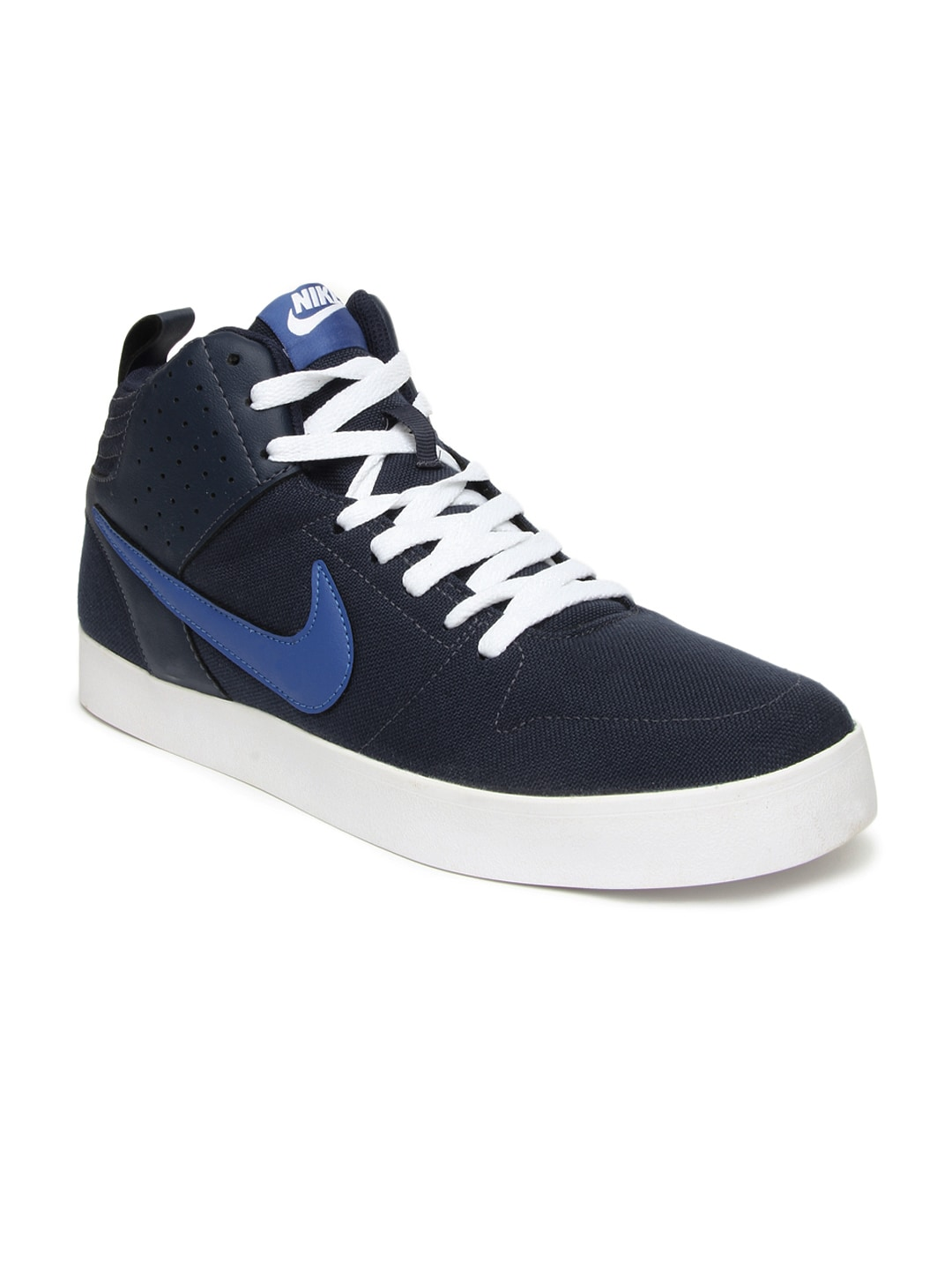 Buy Nike Navy Blue Liteforce III Mid In NSW Casual Shoes ...