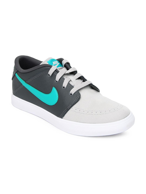 nike grey suketo 2 leather casual shoes