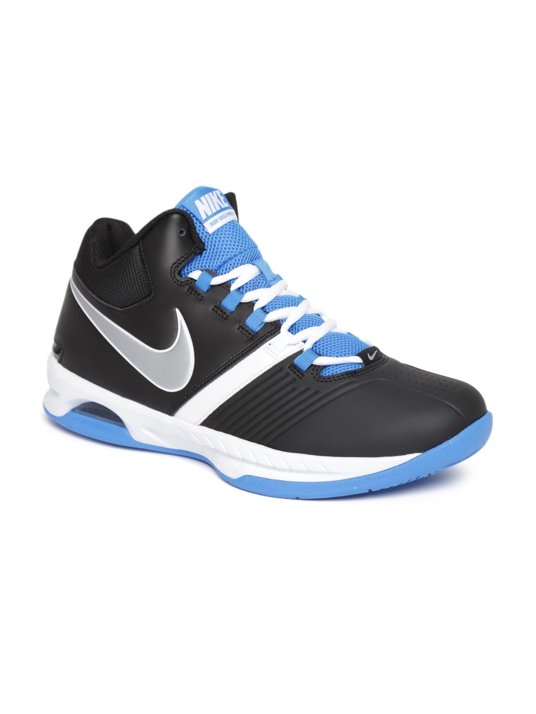 nike black air visi pro basketball shoes