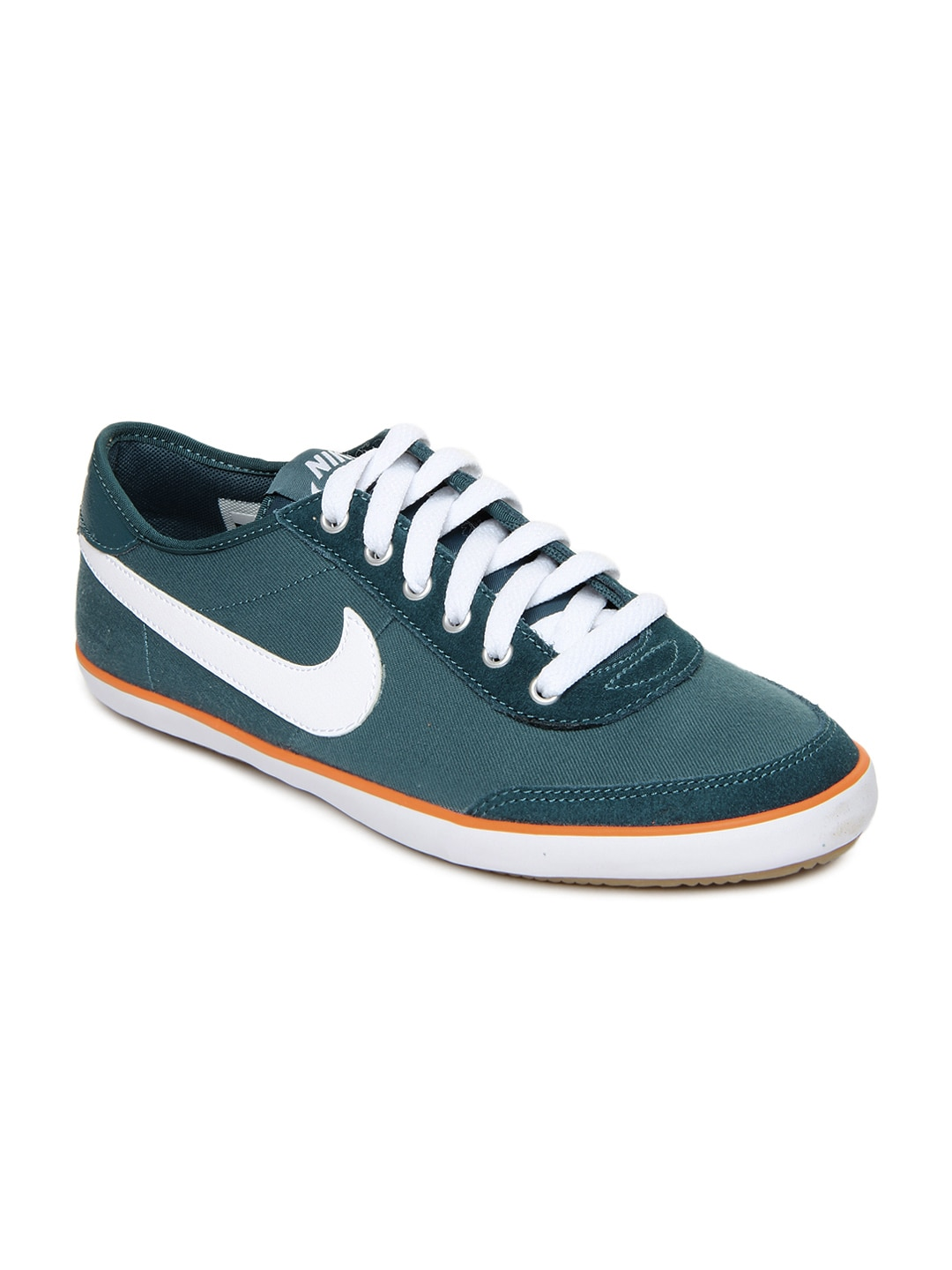 nike teal green sweeper textile casual shoes