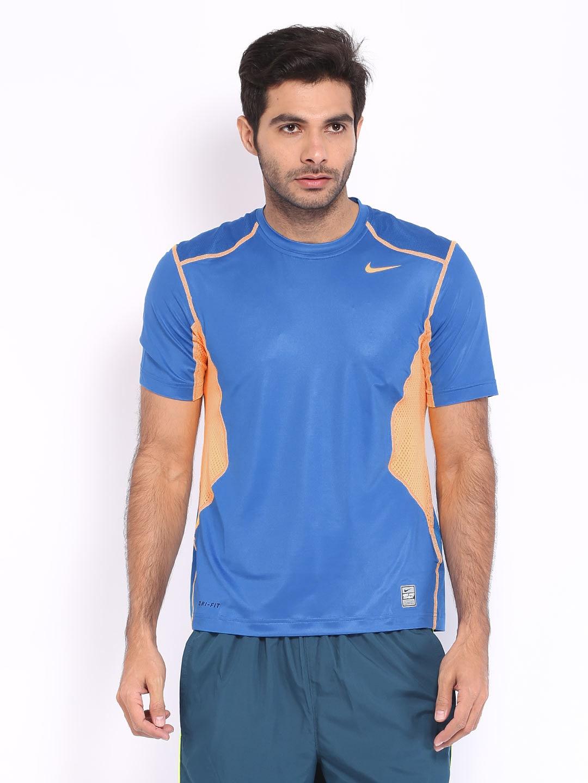 Nike men blue t shirt for Nike t shirt price