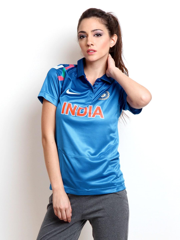 Buy Nike Blue ODI India Cricket Tshirts - Tshirts for ...