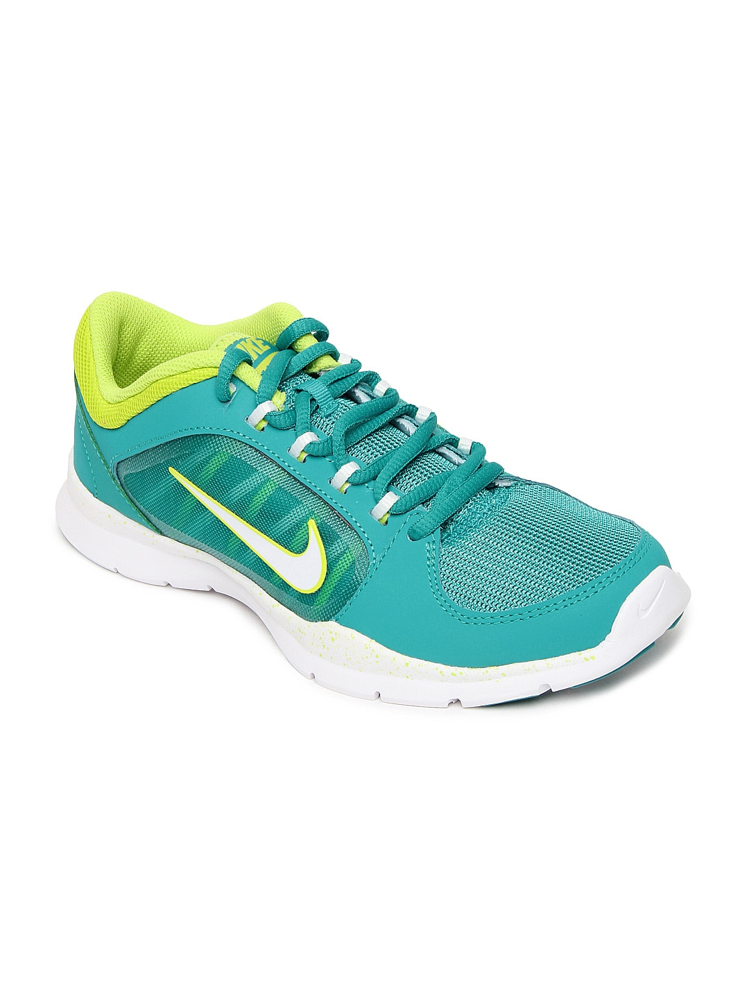 nike green flex trainer 4 sports shoes