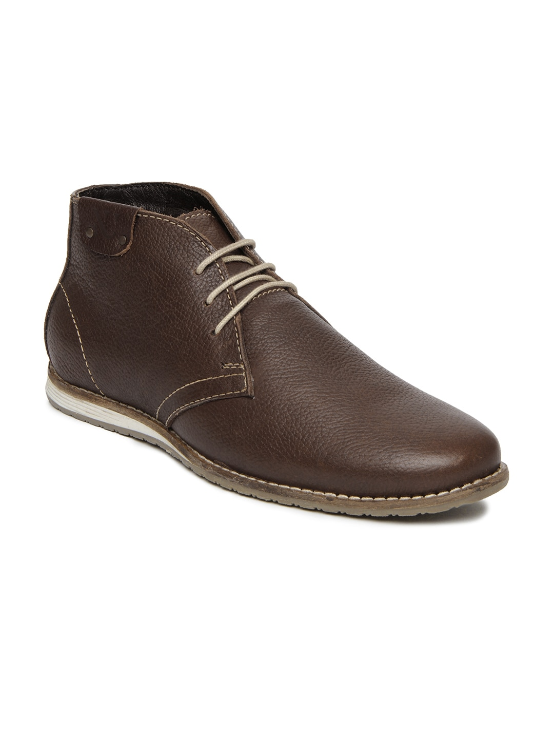 buy numero uno brown leather casual shoes 632