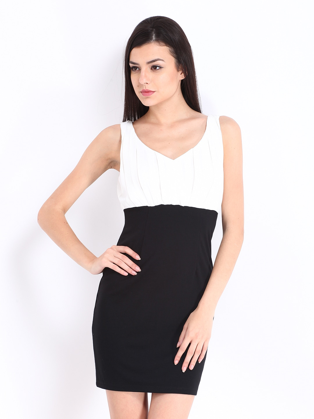 ONLY Black & White Tailored Dress