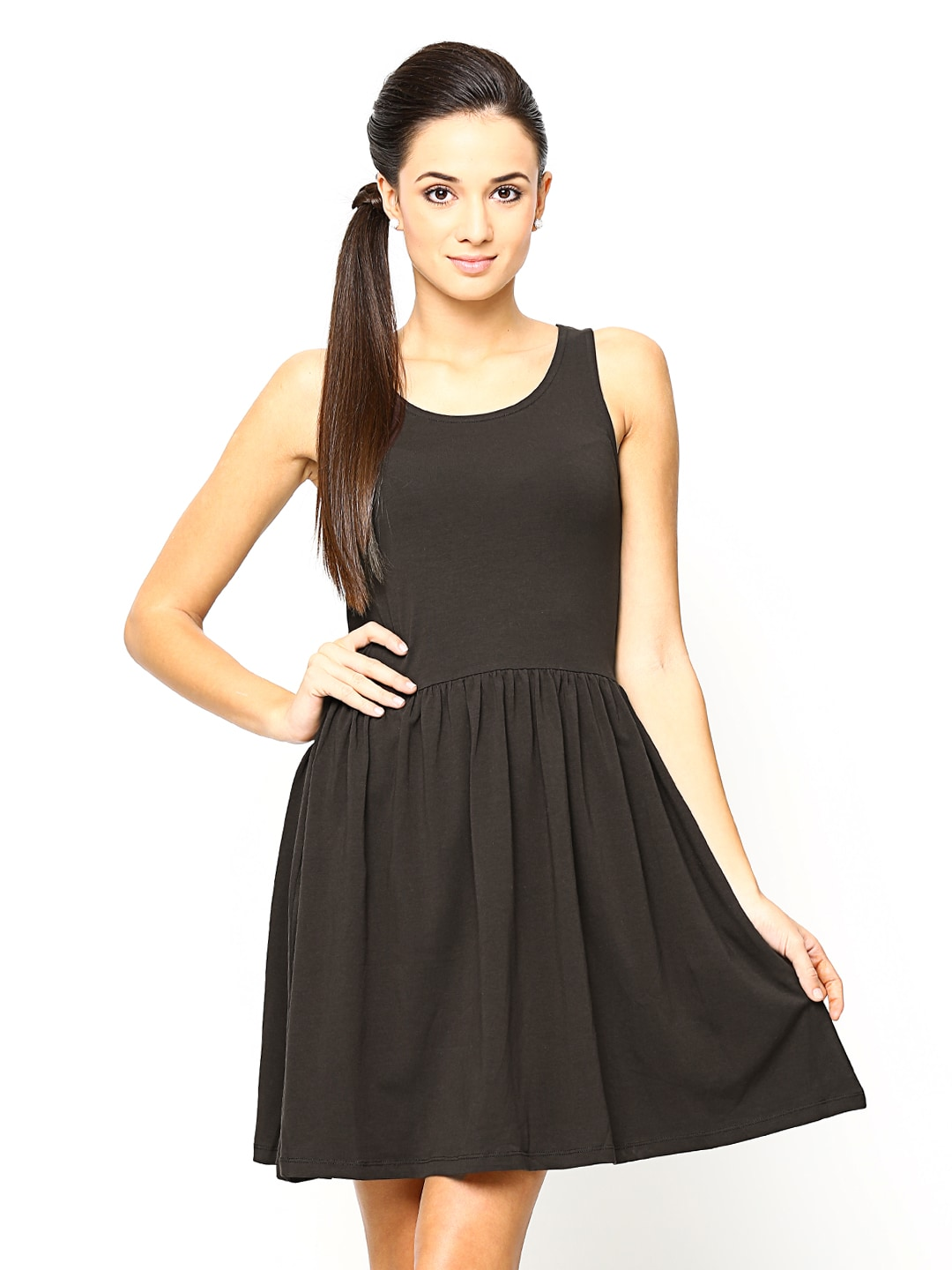 19900c6a1ab6 Buy ONLY Coffee Brown Fit   Flare Dress (multicolor) 3887809 for ...