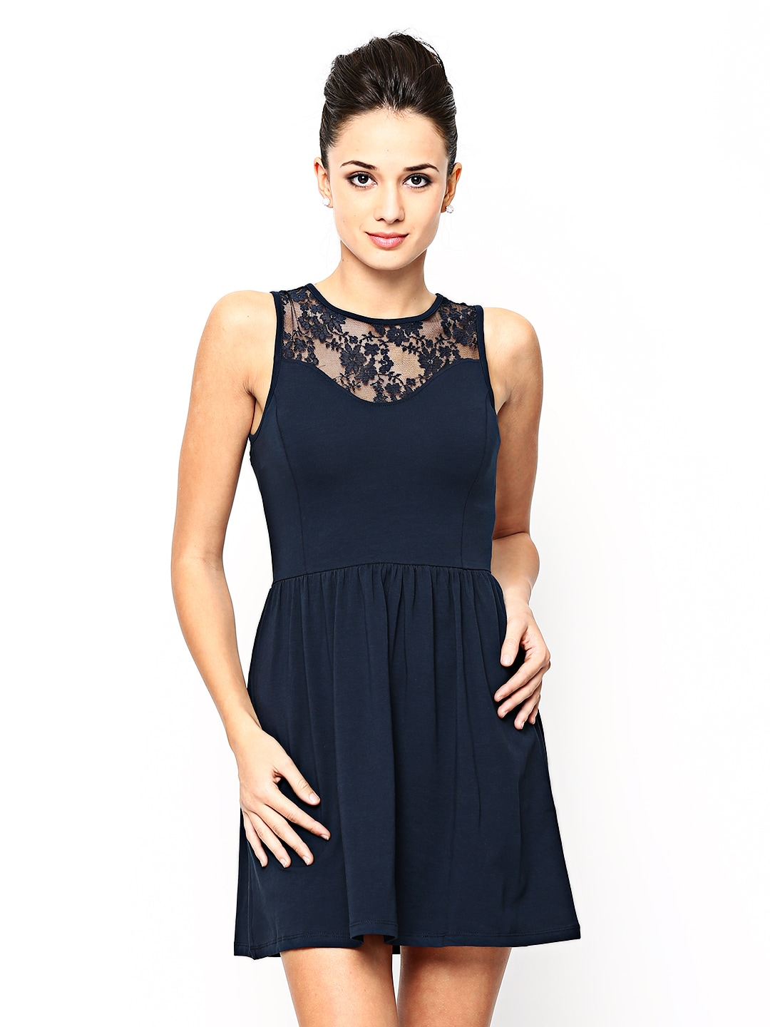 ONLY Navy Fit  Flare Dress