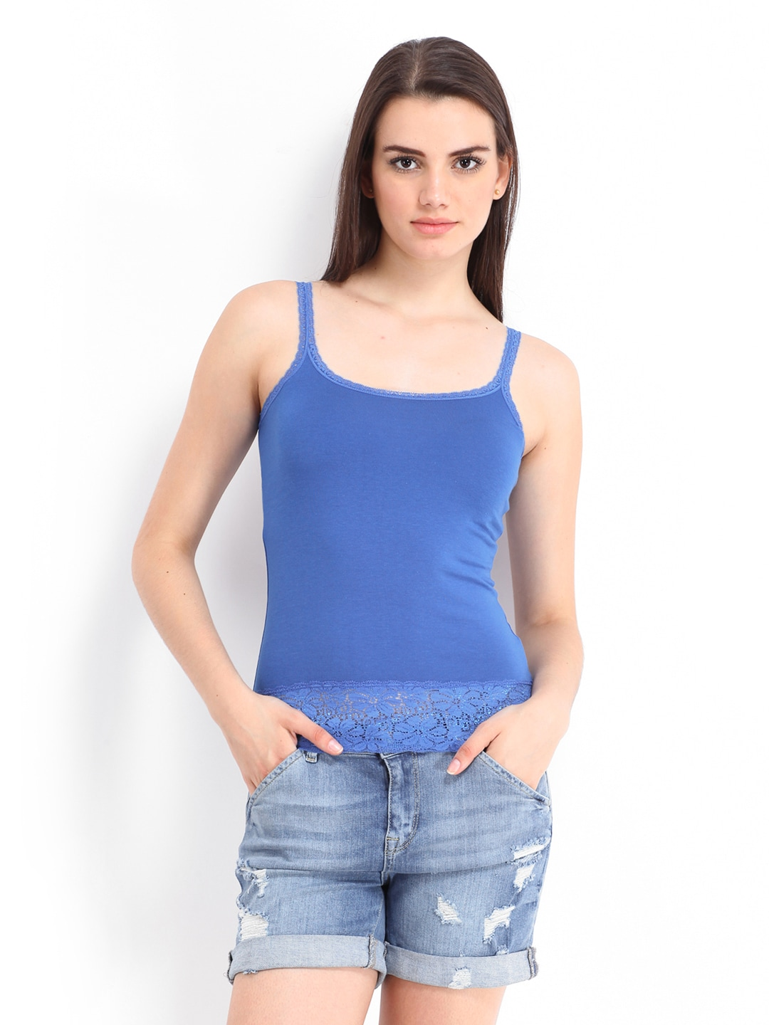 ONLY Women Blue Jenny Spaghetti Top