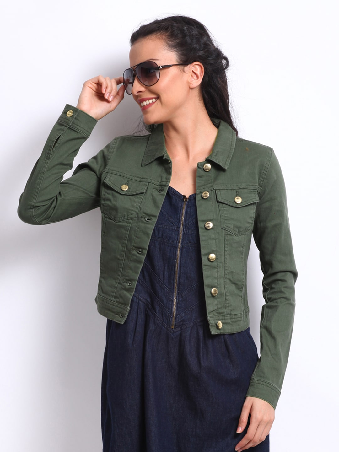 Olive Green Jean Jacket Photo Album - Reikian
