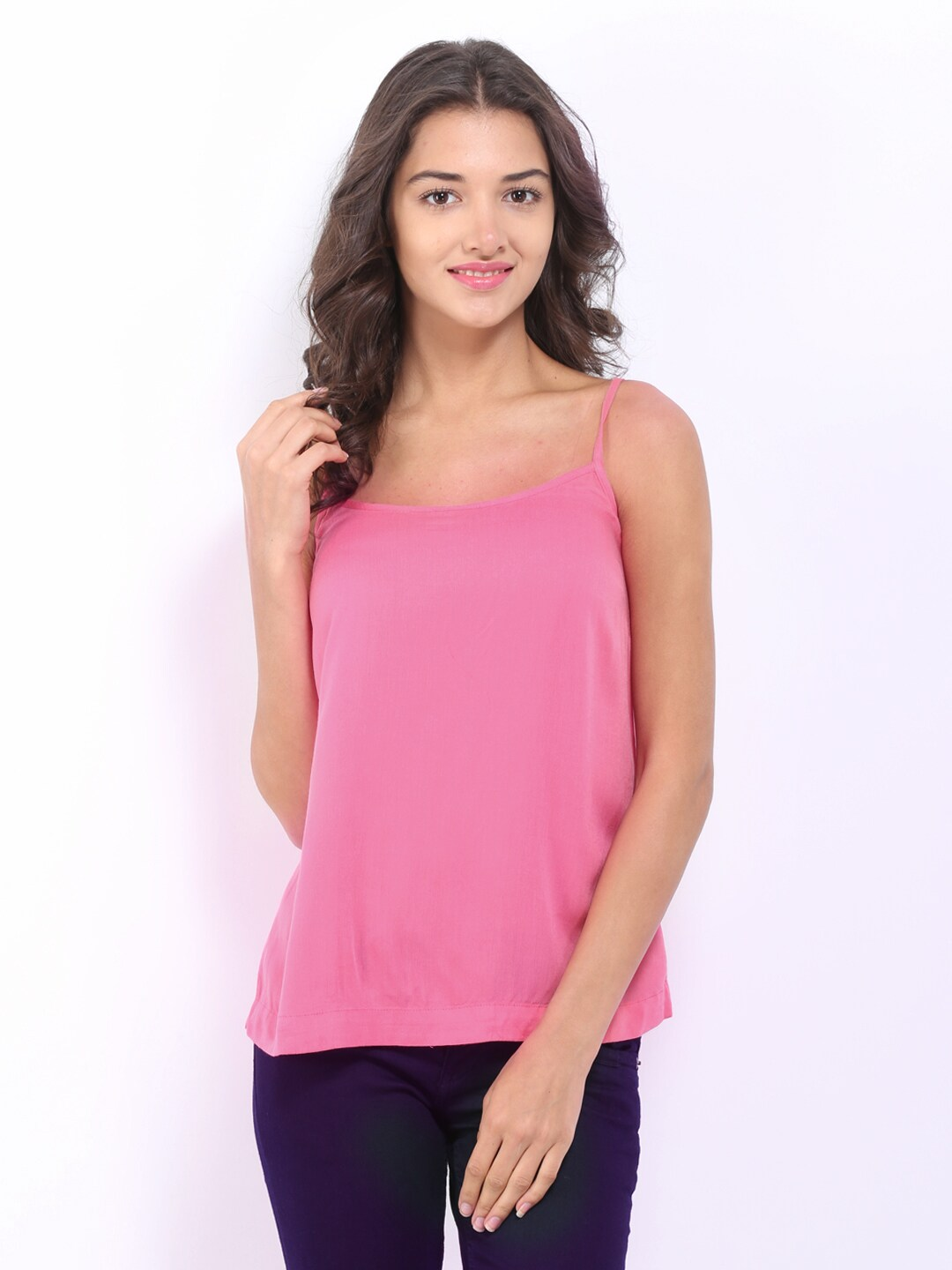ONLY Women Pink Spaghetti Top