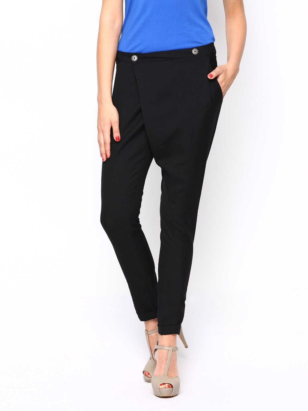 ONLY Women Black Casual Trousers