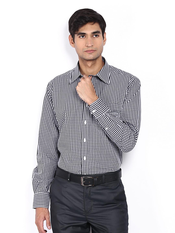 Oxemberg Oxemberg Men Black & White Checked Opulanto Formal Shirt (Multicolor)