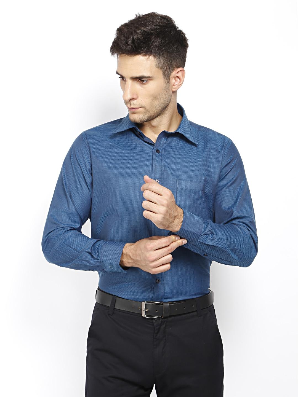 Oxemberg Oxemberg Men Blue Slim Fit Formal Shirt