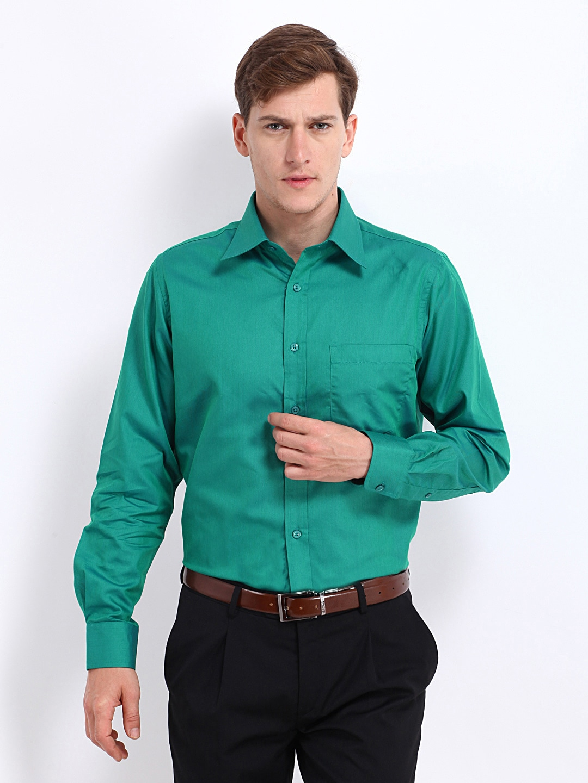 Oxemberg Oxemberg Men Green Slim Fit Formal Shirt