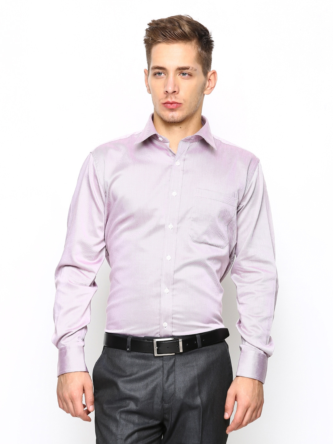 Buy oxemberg men light purple slim fit formal shirt Light purple dress shirt men