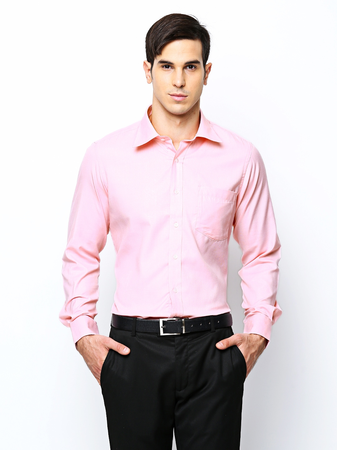 Oxemberg Oxemberg Men Pink Slim Fit Formal Shirt (Multicolor)