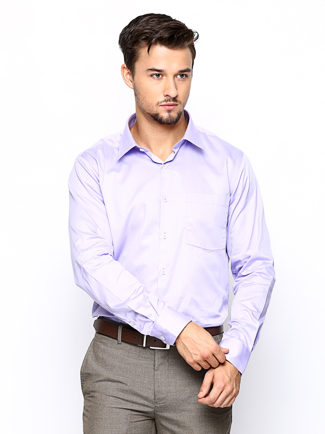Oxemberg Oxemberg Men Purple Slim Fit Formal Shirt (Violet)