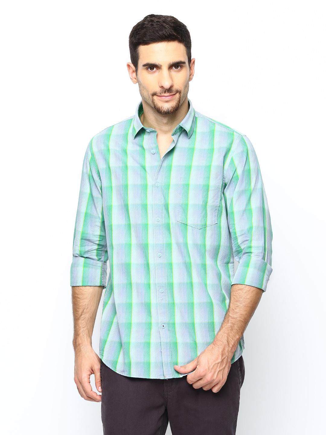 Oxemberg Oxemberg Men Multicoloured Checked Casual Shirt (Multicolor)
