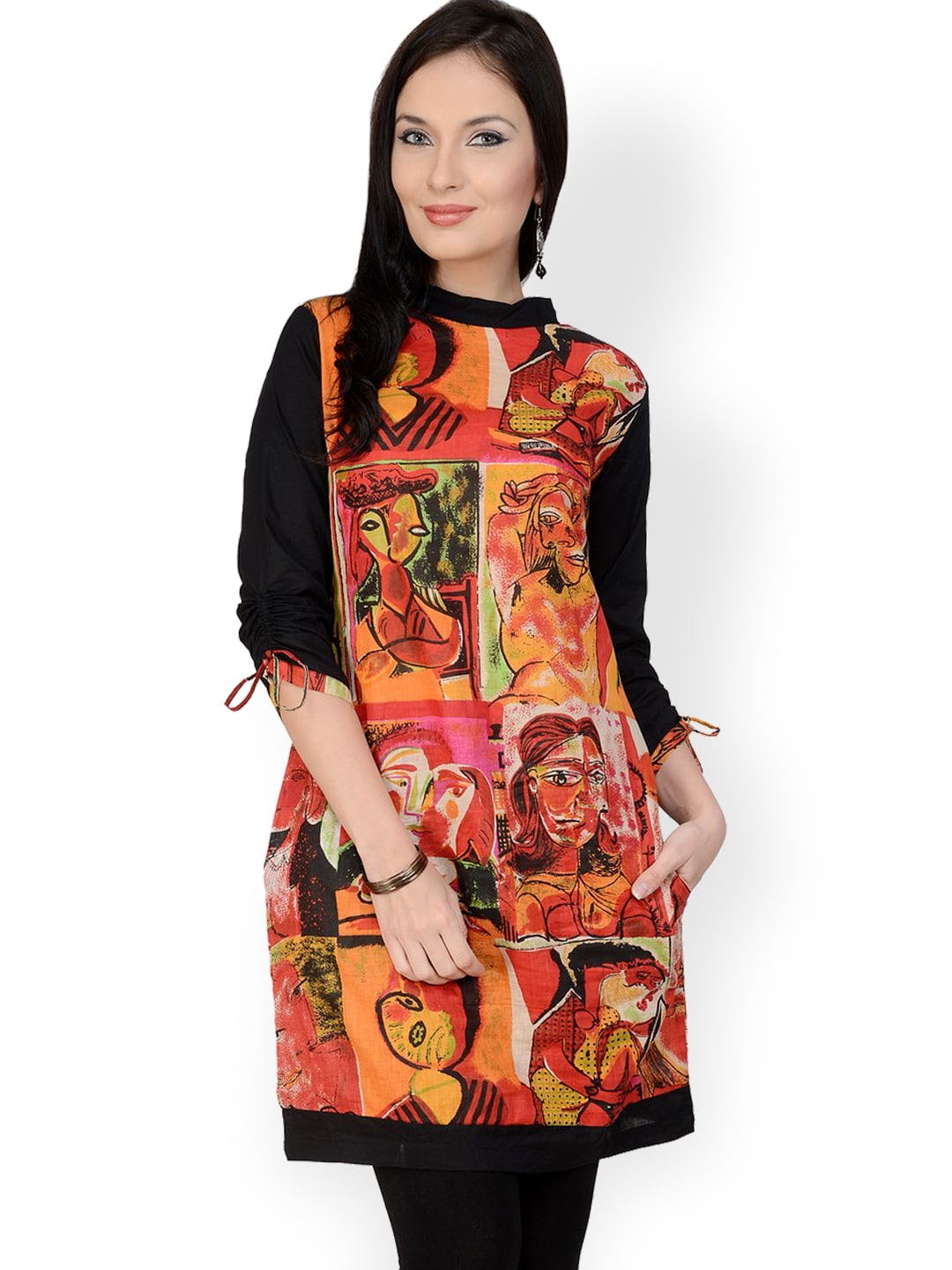 Pannkh Women Multicoloured Printed Kurta
