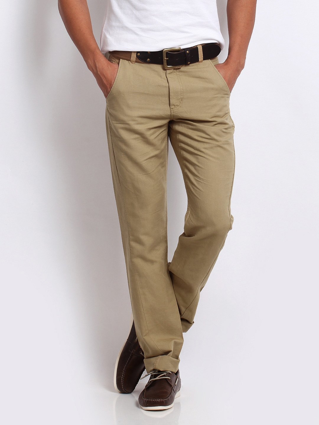 Mens Linen Khaki Pants